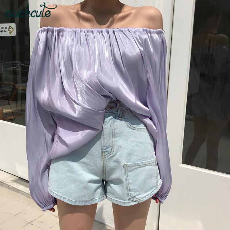 SUCHCUTE Stylish Women 39 s Blouse Plus Size Gothic Longslive Modis Ladies Shirt Harajuku Korean Style Chic Fit Casual Female Tops in Blouses amp Shirts from Women 39 s Clothing
