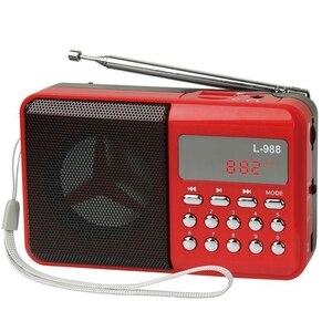 L-988 Hifi динамик микро-usb мини-динамик музыкальный плеер аудио динамик музыкальный динамик s с fm-радио mp3-плеер