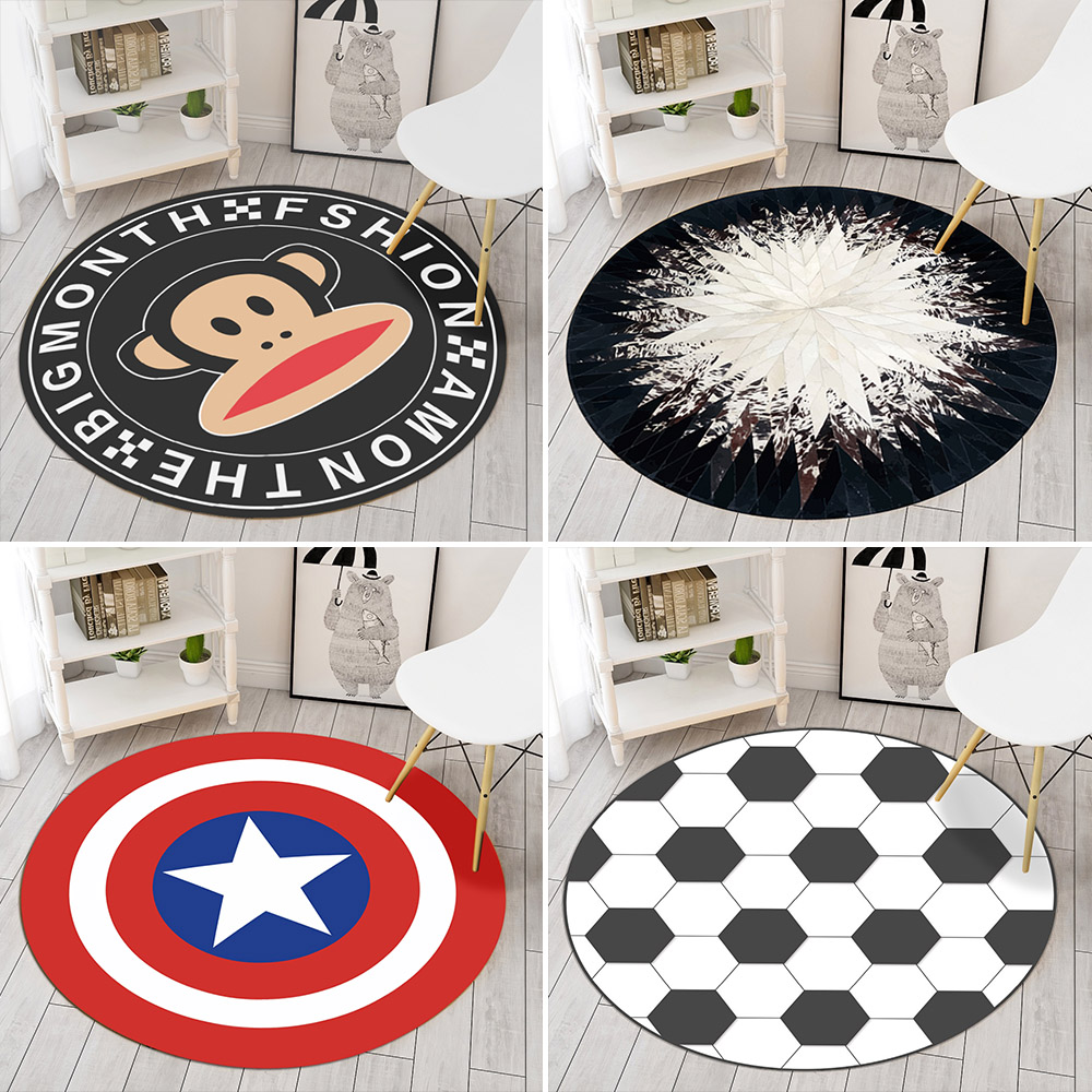 Round carpet computer chair swivel chair cushion hanging basket rattan chair mat Nordic wind living room bedroom round blanket