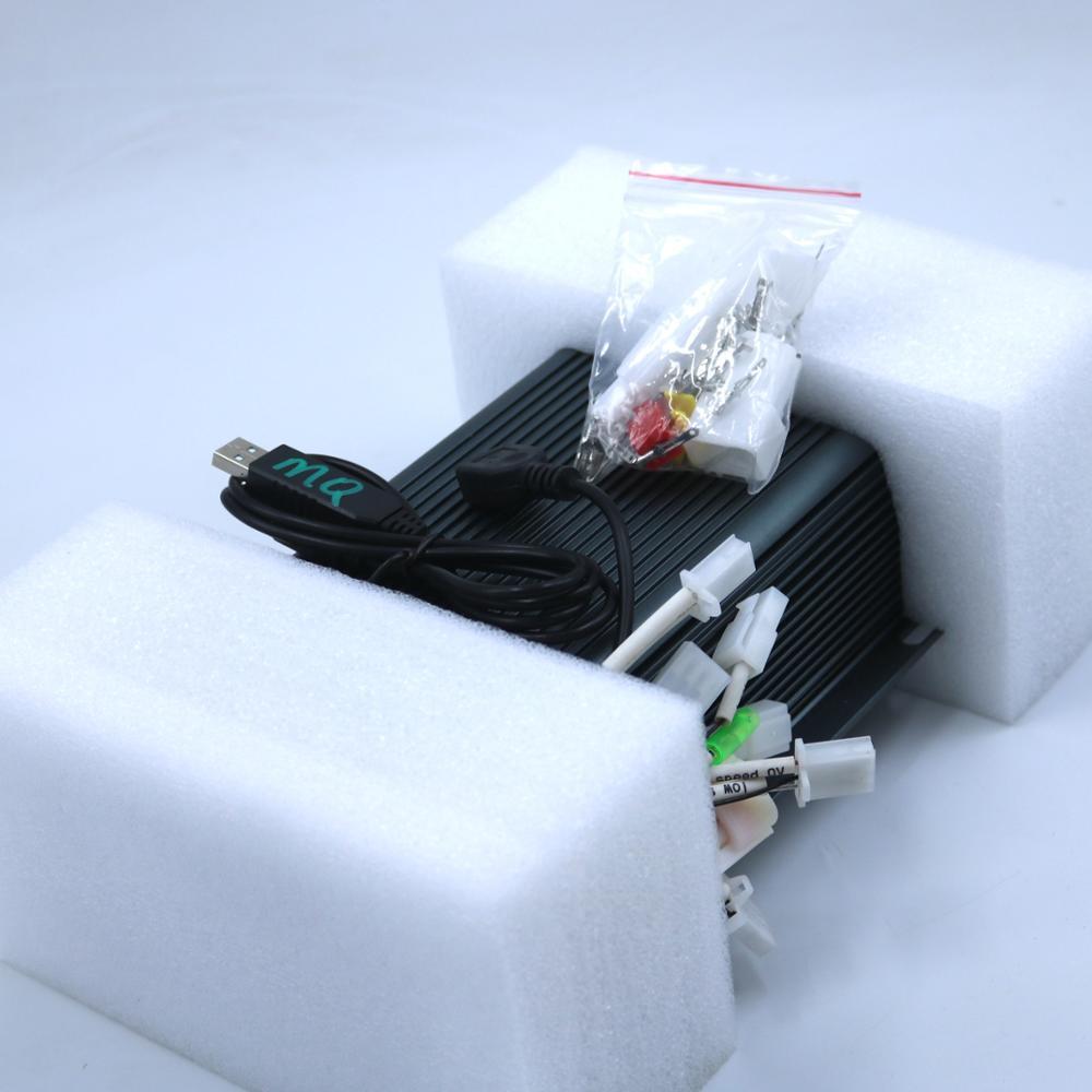 Rectangular Intelligent 72V 150A Brushless Motor Sine-wave Controller Ebike Brushless Sine-wave Controller