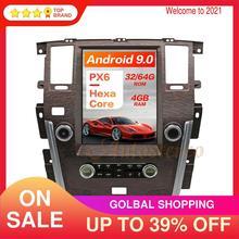 13.6 android 9 tesla estilo navegação gps do carro para infiniti qx80 2016 2020 unidade principal dos multimédios nenhum gravador de fita de rádio do leitor de dvd