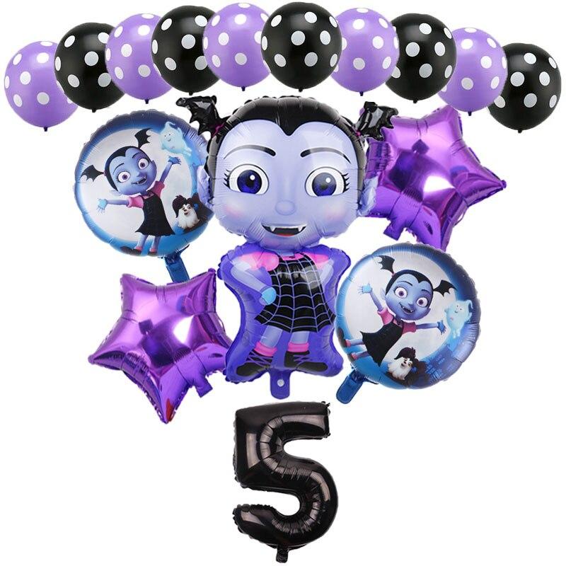 Новинка, украшения для дня рождения, дня рождения, Хэллоуина, ужасы, 32 дюйма, черные шары с цифрами, детские игрушки, шары