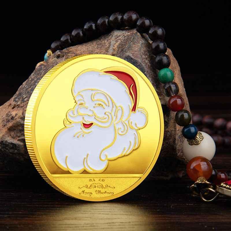 Giáng Sinh Năm 2020 Ông Già Noel Đồng Tiền Kỷ Niệm Lưu Niệm Thách Thức Sưu Tập Nghệ Thuật Chất Lượng Cao Và Hàng Mới