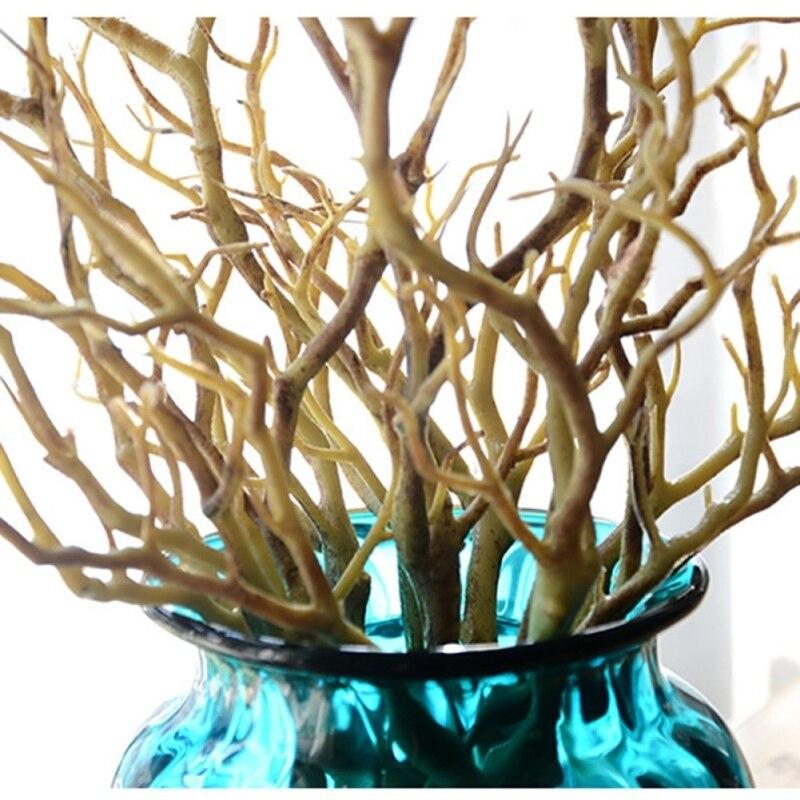 3 шт. Manzanita сухое искусственное поддельное лиственное растение ветка дерева Свадьба домашняя церковная офисная мебель зеленый белый 36 см Z