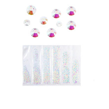 Crystal Glass Nail Rhinestones Mixed Sizes SS4-SS10 Art Decoration Stones Shiny Gems Manicure Accessories