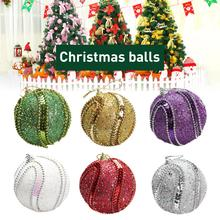 6PCS New High-quality Christmas Ball Colored Hanging Pendant For Tree Decoration Necessary Product