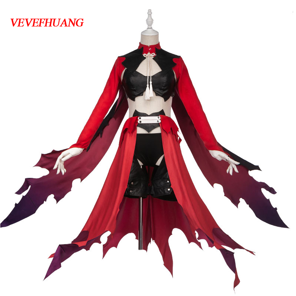 VEVEFHUANG Anime Fate Grand Order illya Chloe Von Einzbern Cosplay Costume FGO Women Party Costume Full set Woman Cosplay Costum