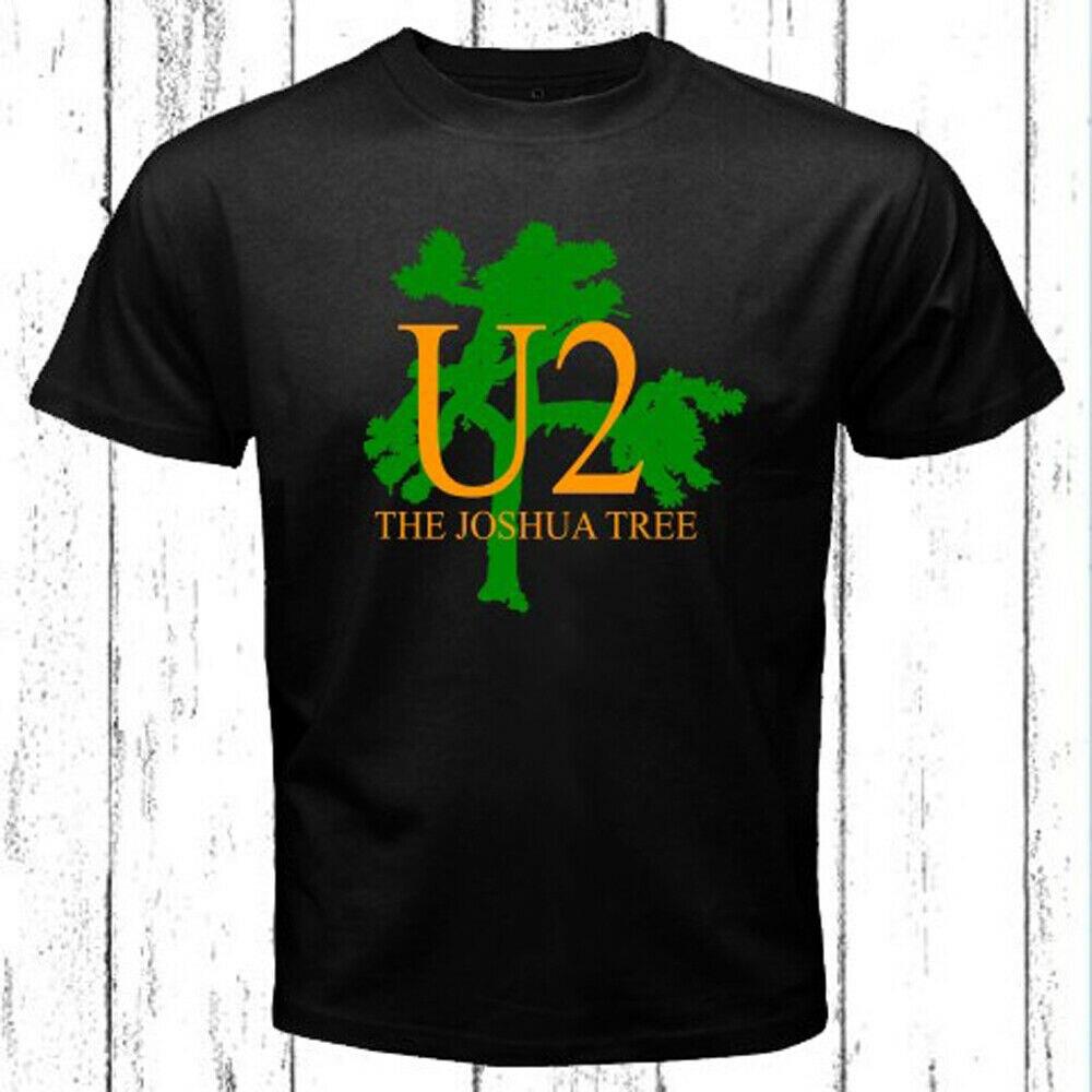 U2 Мужская черная футболка с логотипом шушуа дерева Размер S 3XL