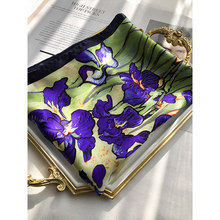 Pure 100% Silk Scarf female Printed famous painting spring Silk scarfe fashion Women scarf 90 square summer sunscreen