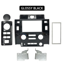 Interieur Dashboard Center Console Voor Land Rover Defender Glossy Zwart Mat Zwart Carbon Look