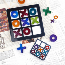 Tic-Tac-Toe Ox Chess Game Epoxy Resin Mold Casting Making DIY Handmade Handicraft Silicone Mold Jewelry Making Tools Accessories