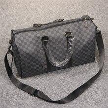 Travel Tote Duffle-Bags Shoulder-Messenger-Bags Business Plaid Large-Capacity Designer