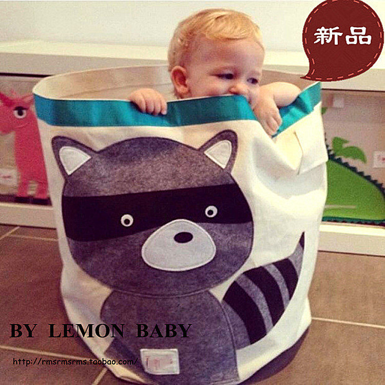 Upgrade Diaper Bag Baby Toys Children's Toys Storage Bag Foldable Round Storage Can Storage Box