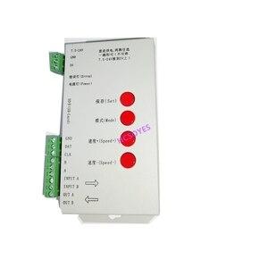 Image 2 - T1000S SD بطاقة APA102 WS2801 WS2811 WS2812B LPD6803 DMX512 LPD8806 LED 2048 بكسل تحكم DC5 ~ 24V T 1000S RGB تحكم