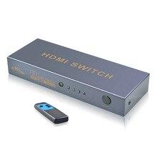 HDMI переключатель 3 порта 4K x 2K Высокоскоростной Переключатель с ИК беспроводным пультом дистанционного управления с полным 3D 1080P