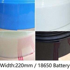 Szerokość 220mm rurka termokurczliwa PVC Dia 140mm bateria litowa 18650 Pack izolowane folie do pakowania pokrowiec ochronny opakowanie drut rękaw kablowy termokurczliwy