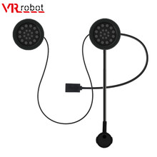 VR robot Helmet Bluetooth Handsfree Headset Wireless Stereo Motorcycle Headphone Mic MP3 Player Speaker with Spong For MP3 GPS(China)