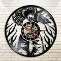 Виниловый пластырь с орлом настенные часы с птицей  винтажная лампа