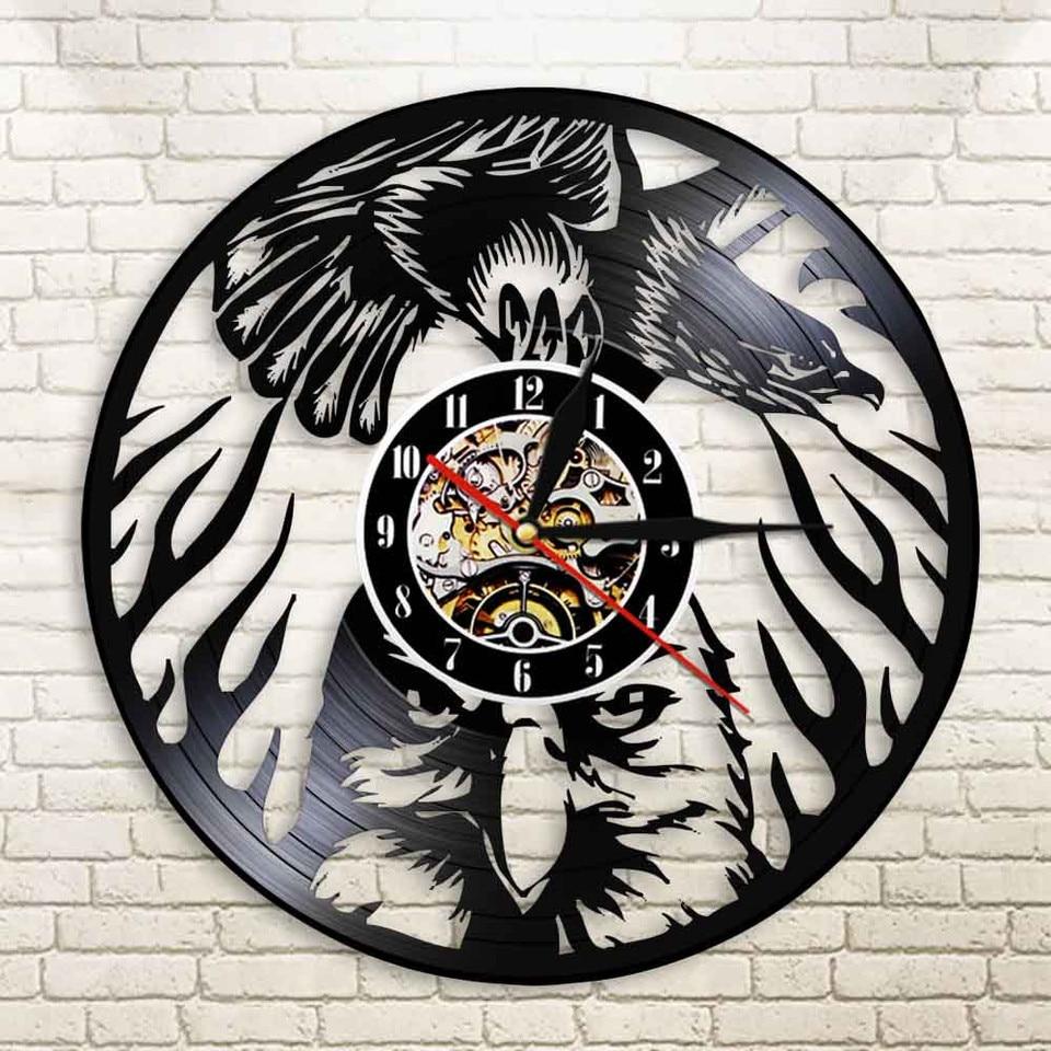 Eagle Bird Wall Clock Animals Soaring Bald Eagle Vinyl Lp Record Watch Bird Of Prey Eagle Dignity In The Sky Vintage Lamp Saat Wall Clocks Aliexpress