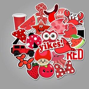 Image 4 - 50 rosso Serie DELLA RAGAZZA Pantaloni A Vita Bassa Carrello Dei Bagagli di Viaggio Del Computer Portatile Del Computer Graffiti Adesivo di Carta Impermeabile Adesivo di Carta