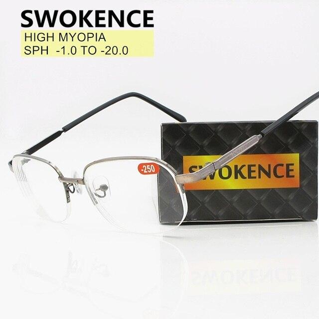 1.0 11  12  13  14  15  16 17  18  19  20 สูงDiopterสายตาสั้นแว่นตาผู้ชายผู้หญิงแว่นตาตามใบสั่งแพทย์สายตาสั้นF155