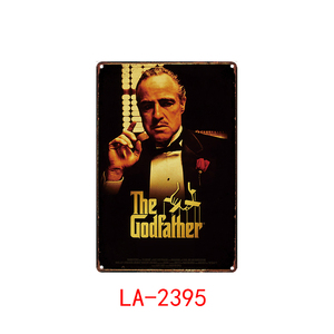 De Godfather- Plaque Metalen Vintage Movie Metal Emaille Bord Wall Decor Voor Bar Pub Club Man Cave Iron Schilderen