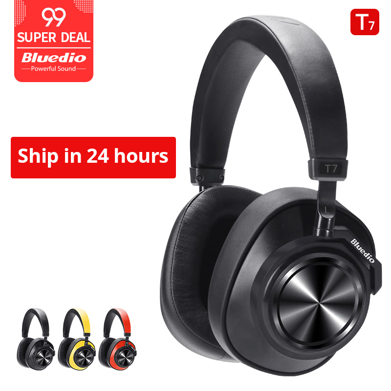 Bluedio T7 Bluetooth Headphones User-defined Active Noise Cancelling Wireless Headset For Phones And Music With Face Recognition