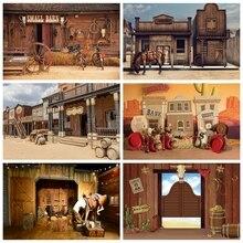 Laeacco Wild West Kulissen Farm Western Cowboy Holz Scheune Saloon Baby Geburtstag Fotografie Hintergrund Für Foto Studio Photo