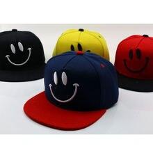 Детская шапка в стиле хип хоп детская бейсбольная кепка со смайликом