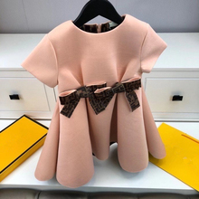 2021 spring and summer girls' fashion birthday party dress baby princess dress children autumn bow dress
