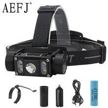 цена на 50000LM Super Bright 5 LED L2 Headlamp Flashlight Type-C USB Rechargeable Lantern Waterproof Portable Camping Head Torches Light