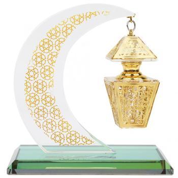 Zaopatrzenie kościoła muzułmańska kryształowa ozdoba Model islamski księżyc w kształcie pałacu rękodzieła pamiątki wystrój samochodu zaopatrzenie kościoła tanie i dobre opinie TOPINCN Szkło