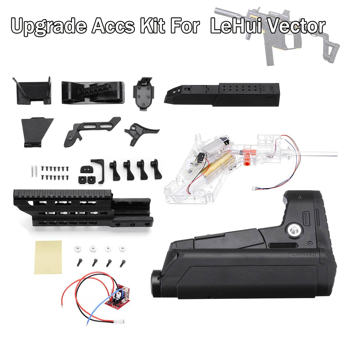 Magazine Modified Parts For LeHui Vector V2 Gel Ball For Blaster Water For Gun Upgrade Accs Kit