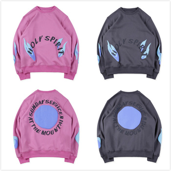 19FW Kanye West Sunday Service Holy Spirit CPFM.XYZ Hoodies Men Women Flame Spirit Sweatshirt Sunday Service Holy Spirit Hoodies фото