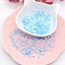 Kscraft 170 pçs simulação azul gota de orvalho gotas de água pedras para papel ofício cartão fazer decoração acessórios scrapbooking