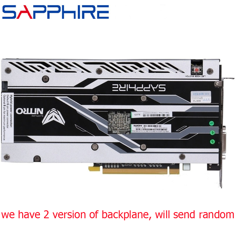 SAPPHIRE RX 470 4GB Video Card 256Bit GDDR5 Graphics Cards for AMD RX 400 series Cards RX470 DVI DVI-D Interface 2048SP Used 4