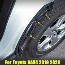 Garde-boue pour pneus arrière de voiture, 2 pièces, décoration spéciale pour Toyota RAV4 2019 2020 2021 2021, garde-boue pour RAV4