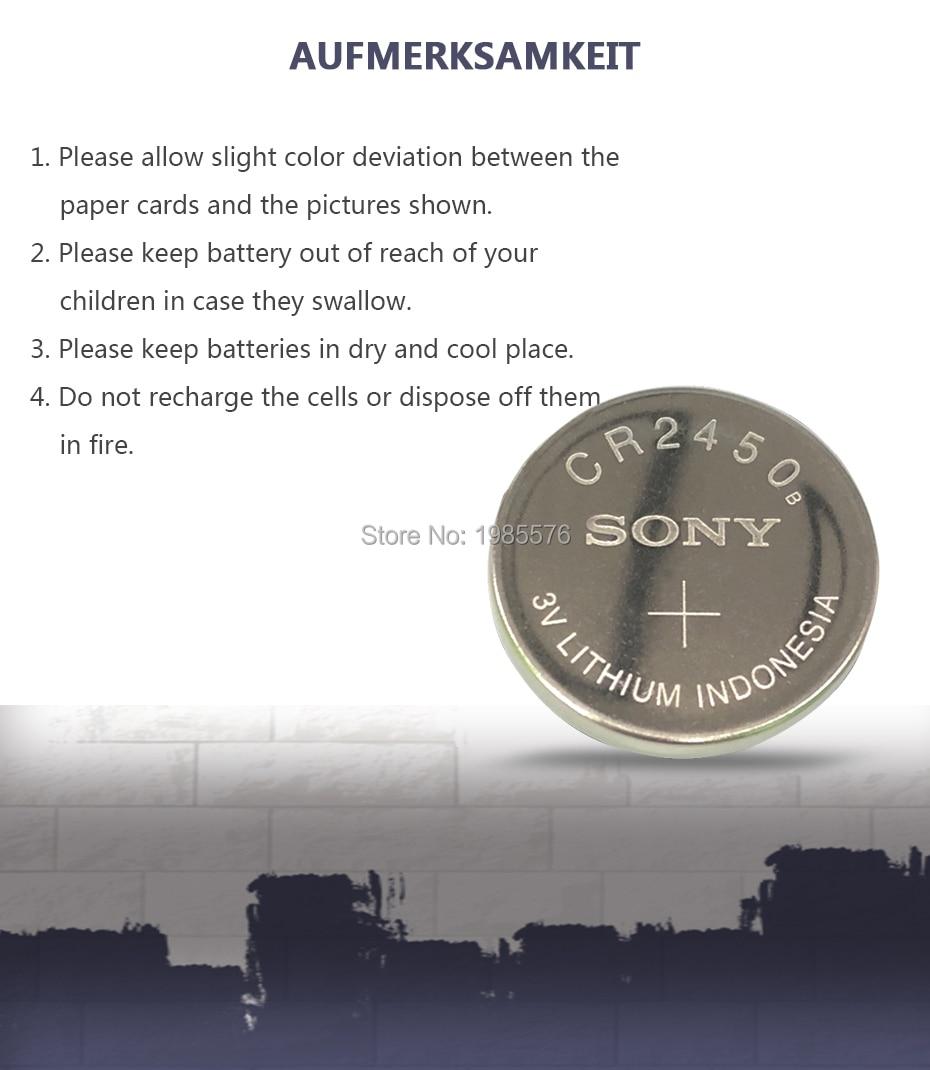 50pc sony células da moeda botão bateria