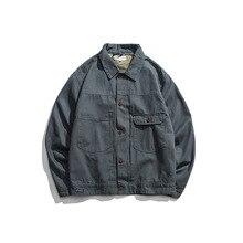 EWQ/ropa de hombre 2020 Primavera Verano moda nueva ropa de trabajo vintage suelta abrigo marea abajo collat chaqueta masculina 9Y922