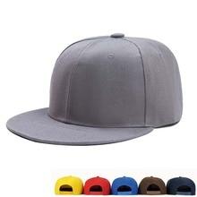 Men Women Baseball Caps Snapback Solid Colors Cotton Bone Eu