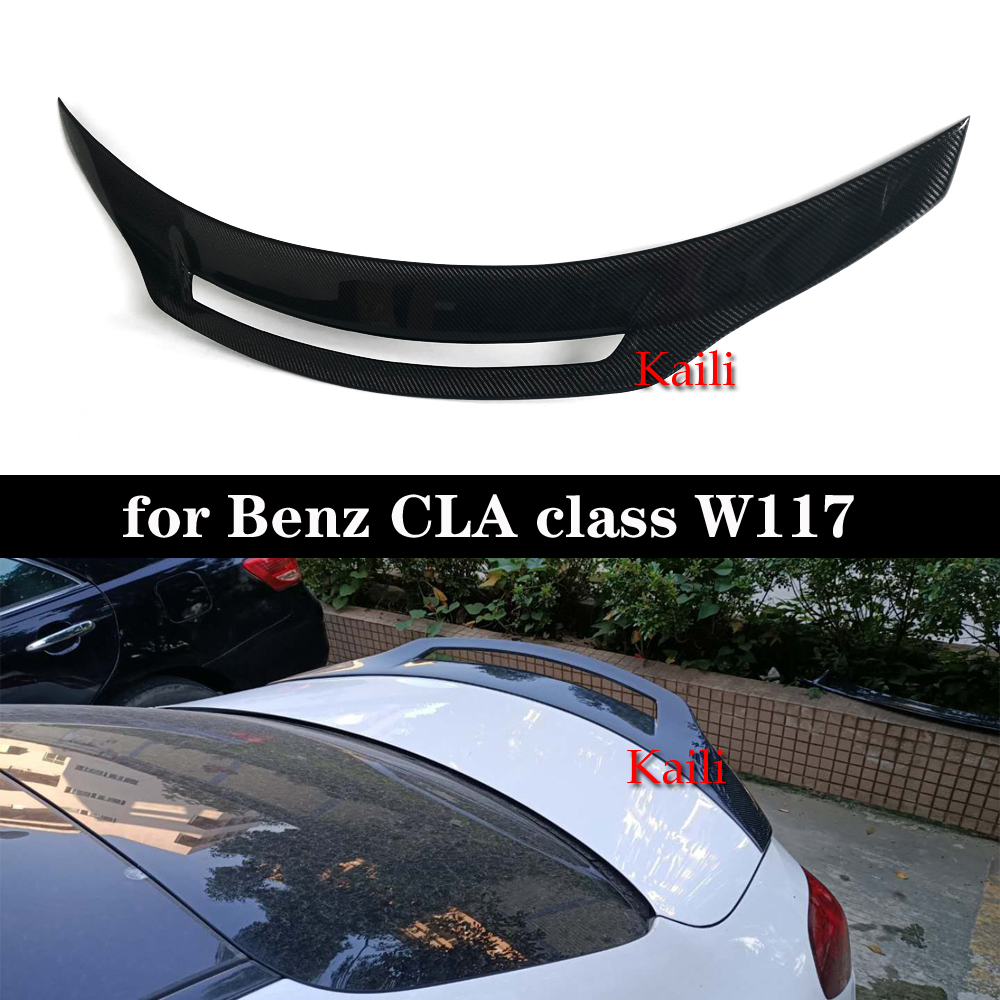 For CLA W117 <font><b>CLA200</b></font> CLA220 CAL260 Real Carbon GT design Back <font><b>Spoiler</b></font> Wings Rear Diffuser image