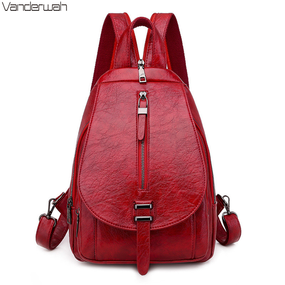 Spring New Multifunction Ladies Backpack High Quality PU Leather Bagpack Fashion Small Chest Bags For Women 2020 Mochila Mujer