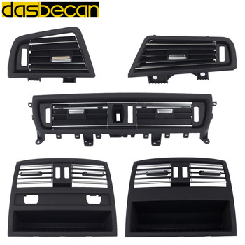 Dasbecan Air Conditioning Vent Grill Outlet Panel For BMW 5 Series F10 F11 F18 520 523 525 528 530 535 10-16 Rear Central Fresh image