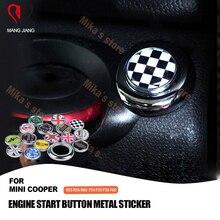 미니 쿠퍼 용 R55 R56 R57 R60 Countryman 자동차 시작 버튼 스티커 장식 액세서리 엔진 시작 버튼 스티커 커버