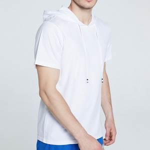 LASPERAL Hoodie Shirt Short-Sleeve Slim-Fit Streetwear Plus-Size Casual Fashion Loose