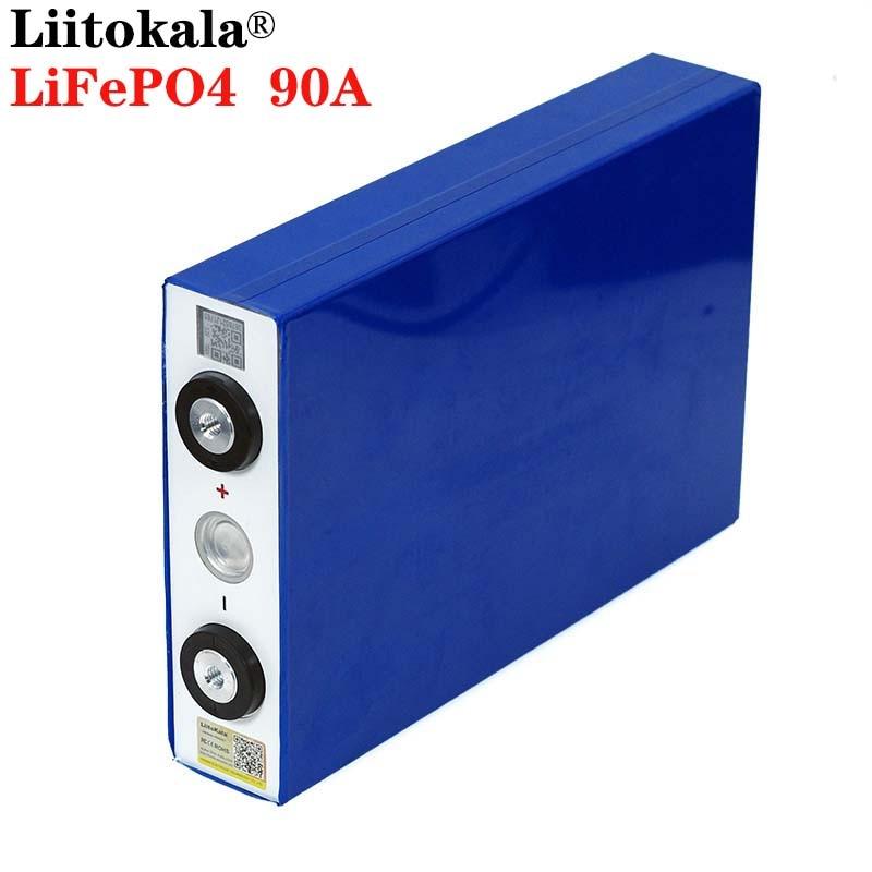 4484.62руб. 23% СКИДКА|Liitokala 3,2 V 90Ah аккумулятор LiFePO4 литий железо фосфа большой емкости 90000mAh мотоцикл электрический автомобиль аккумуляторные батареи для двигателя|Комплекты батарей| |  - AliExpress