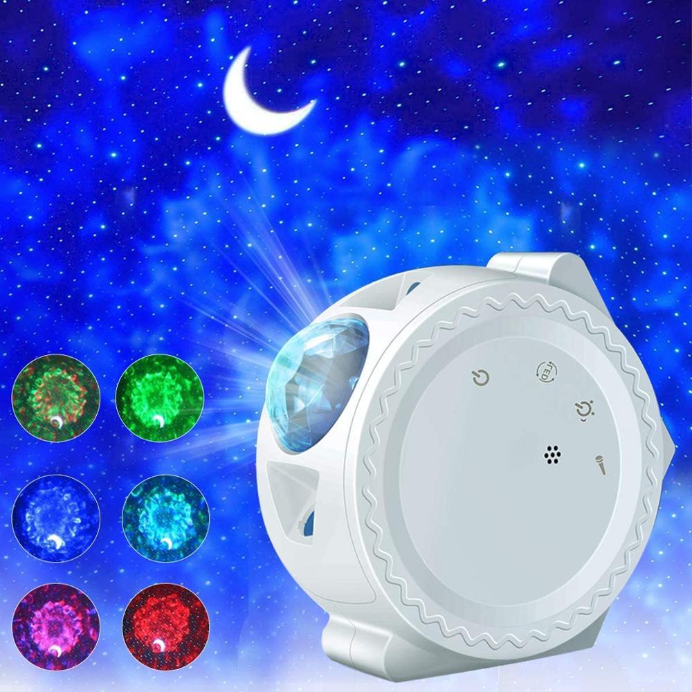 3 в 1 Звездный ночной Светильник проектор Звездное небо Луна проектор галактика океан Туманность лампа управление музыкой для детей рождест...