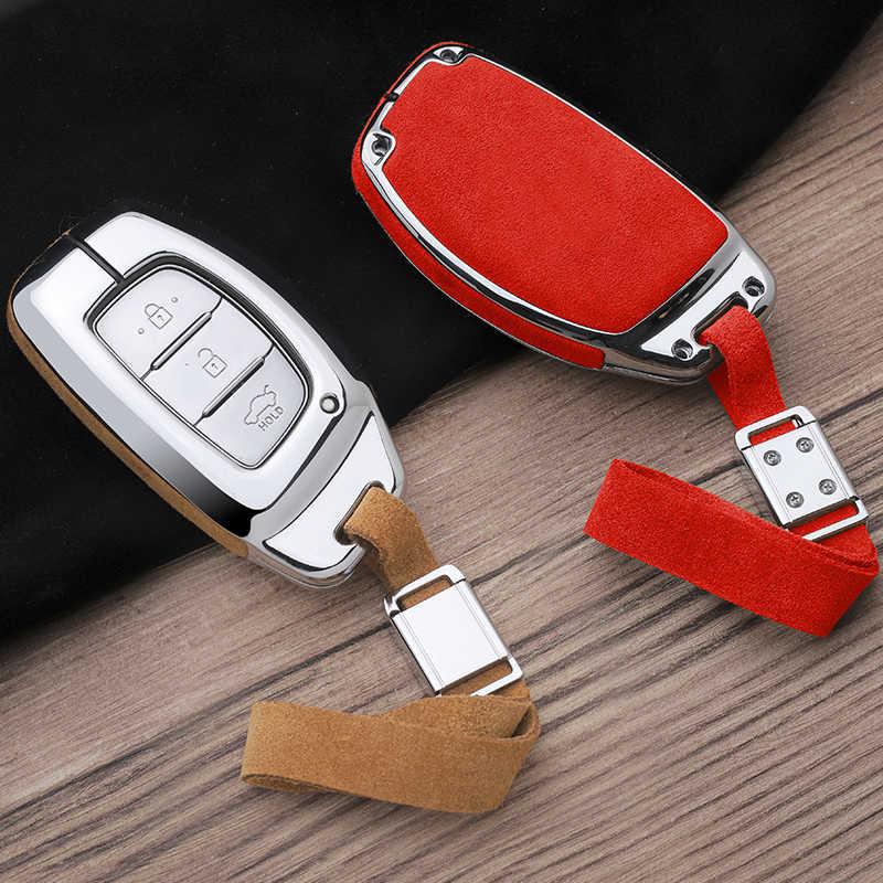 Автомобильный кожаный брелок для ключей чехол для hyundai HB20 IX20 Solaris Creta Getz IX25 IX35 Elantra Accent Tuscon 2019 крышка смарт-ключа