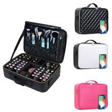 1pc Professional Large Makeup Bag Cosmetic Case Zipper Storage Handle Organizer Travel Organizers