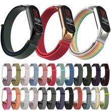 купить Nylon Loop Band for Xiaomi Mi Band 4 Bracelet Wristband Women Men Fitness Sport Replacement Loop For Miband 3 Smart Accessories дешево